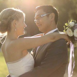 Vidéo mariage couple et bouquet